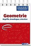 Pocketblock Geometrie - Begriffe, Grundlagen, Lehrsätze: Gute Noten mit der Schülerhilfe -