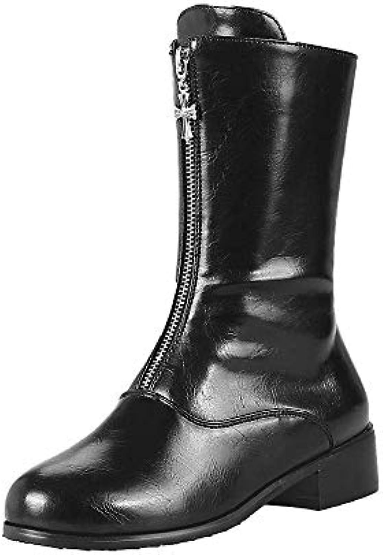 FuweiEncore Chaussures Femmes Bottes d'hiver Chaussures Décontractées Bottes d'hiver Bottes Bottines Bottes Courtes Femmes Loisirs... b49231
