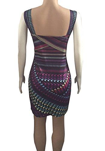 Strandkleider A-Linie Damen Reizvolle Trägerlos Rundkragen Schlank-Kleid Bedrucktes Kleid Druckkleider Freizeitkleider Mehrfarbig