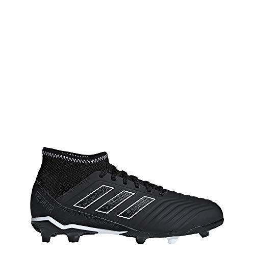 adidas Unisex-Kinder Predator 18.3 FG Fußballschuhe, Schwarz (Negbás/Ftwbla 000), 37 1/3 EU (Adidas Kind Kleines Fußballschuh)