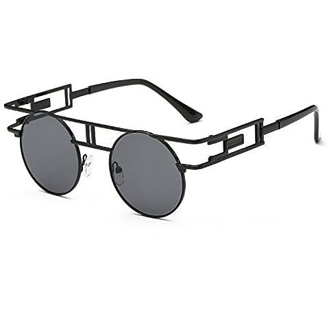 Cvoo Women'S Steam Punk Metal Hollow Frame Sunglasses Color Film (Hip Hop Mode Sonnenbrillen)