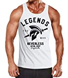 Neverless Cooles Herren Tank-Top Gladiator Sparta Gym Athletics Sport Fitness Muskelshirt Muscle Shirt weiß XXL