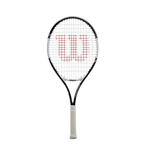 Wilson Raquette pour Enfants/Adolescents, Roger Federer 25, Noir/Rouge, pour les Enfants de 1,30m à 1,45m de Hauteur, WRT200800