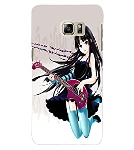 ColourCraft Girl with Guitar Design Back Case Cover for SAMSUNG GALAXY NOTE 5 EDGE
