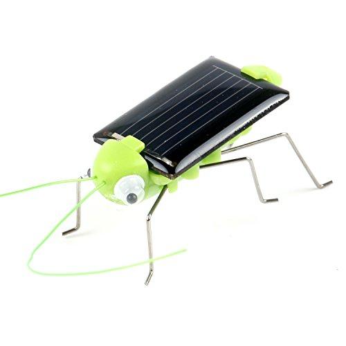 TRIXES Cavalletta robot verde alimentata a energia solare, ronza, ondeggia, educativo.