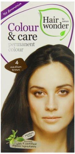Hennaplus Hairwonder Colour und Care 4 medium brown, 100 ml
