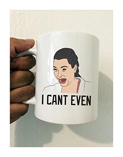 cbuyncu Christmas Kim Kardashian Crying Ceramic Milk Mug Cup 11 OZ Coffee Mug Hot Tea Mug Cup Travel Mug Personalized Gifts For Women,Men,Kids Him, Her,Dad, Son, Daughter,Mom,Friends Office Supply