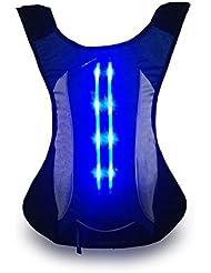 Deportes llevaron seguridad mochila 15L - seguridad es lo primero. Brillante LED luces de mochila para promover la seguridad al correr, senderismo, caminar, ciclismo, patinaje, motociclismo.