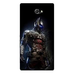 EYP Superheroes Batman Dark knight Back Cover Case for Sony Xperia M2 Dual