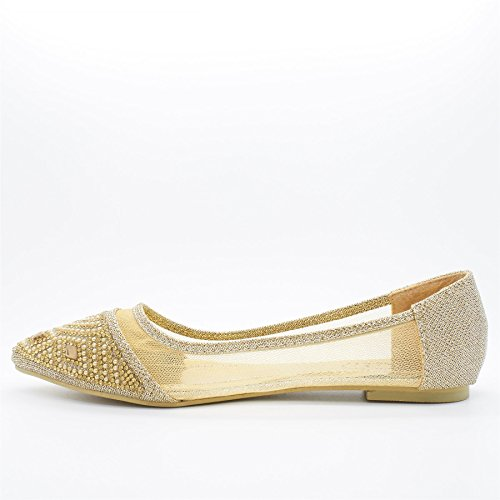 London Footwear - Ballet donna Oro