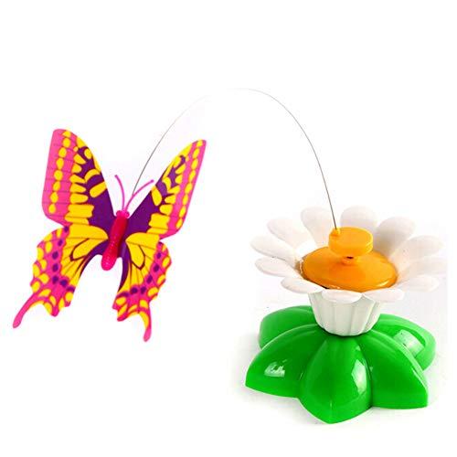 Sendgo - Giocattolo Elettrico per Gatti a Forma di Farfalla e Uccellino in Filo di Acciaio Butterflly