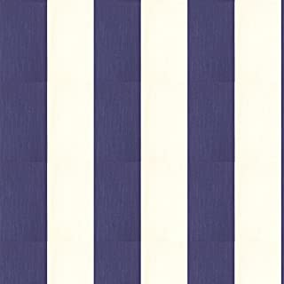 Dutch Wallcoverings 7318-5 Stripe Wallpaper - White/Blue