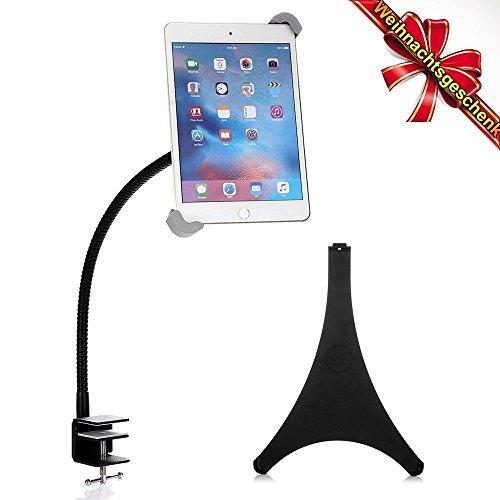 Bestek supporto cellulari e tablet 2 in 1 con braccio a collo d'oca regolabile a 360 ° per ipad air/air 2/ipad mini 2/3 in cucina/ufficio
