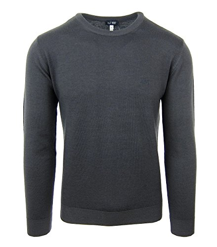 ARMANI JEANS 06W76 Herren Men Pullover Sweat Strick Dunkelgrau Dark Grey Wolle