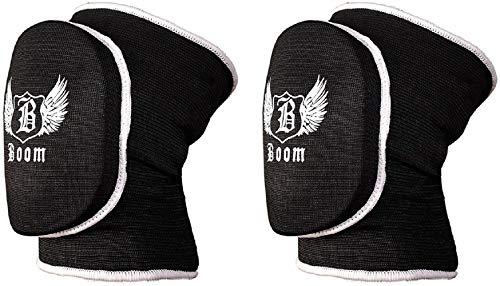 BOOM Prime Schwarz Volleyball Knieschoner Displayschutzfolie MMA Unterstützung Guards Martial Arts Wrestling Kick Boxen, schwarz