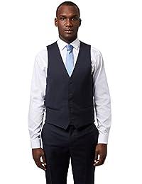 DKNY Slim Fit Marineblau Textured Anzug Weste UK