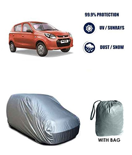 Autowheel-silver-car-body-cover-Maruti-Alto-800-With-Storage-Bag-Free
