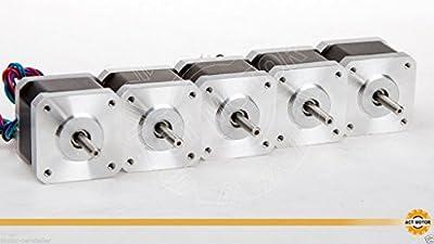 ACT Motor GmbH 5PCS Nema17 Stepper Motor 17HS3404 Schrittmotor 0.4A 34mm 28N.cm CNC 3D Drucker Registrierkassen