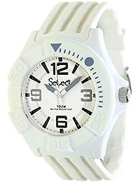 4ab449ec3945 Select Tc-30-01 Reloj Analogico Unisex Caja De Resina Esfera Color Blanco