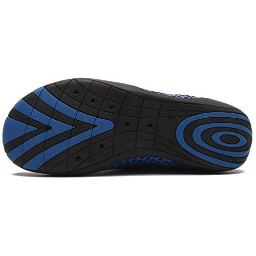DoGeek Scarpe da Spiaggia Scarpe da Scoglio Unisex Scarpe Uomo/Donna Acqua Scarpe da Scoglio Water Shoes Blu