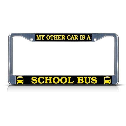 Preisvergleich Produktbild Teisyouhu My Anderen KFZ-ist Eine Schule Bus Funny Nummernschild Bilderrahmen Auto Tag Halter für Herren