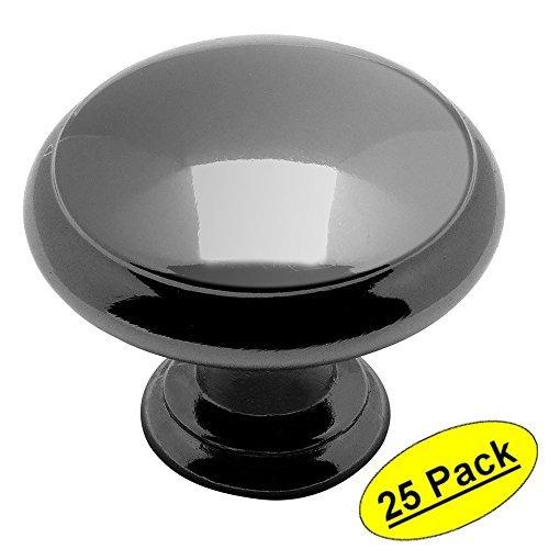 Cosmas 5422BN Black Nickel Cabinet Hardware Mushroom Knob - 1-3/16 Diameter - by Cosmas - Black Nickel Cabinet Hardware