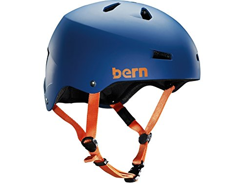 Bern Herren Helm Macon EPS Thin Shell, matt blau, L/XL, VM2EMBLLXL