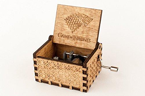 Caja musical de madera grabada Juego de Tronos. Envío gratuito. Vídeo en la...