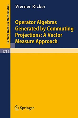 Operator Algebras Generated by Commuting Projections: A Vector Measure Approach par Werner Ricker