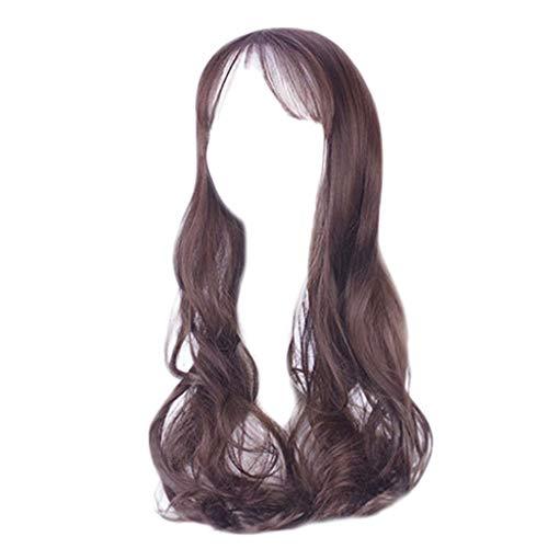 (❤️LCLrute Cosplay Perücke Fei Zeigen Synthetischen Langen Lockigen Mittleren Teil Linie Blonde Frauen Haar Kostüm Karneval Halloween Partei Salon Haarteil (B))