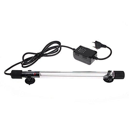 FitTek® Facilla Lampada per acquario o piscina, lampadina a striscia, 10 W, tubo sterilizzatore, UV UVC, 220-240 V, illuminazione notturna d'ambiente