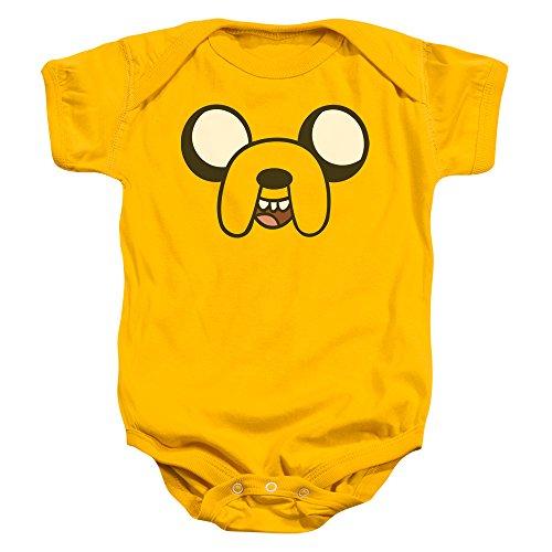 Adventure Time - - Kleinkind Jake Head Strampelanzug, 6 Months, Gold