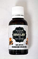 Aaveejay Natural Pure Organic Cold Pressed Unrefined Moroccan Argan Oil - 30ml Bottle With Dropper