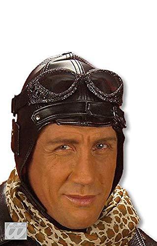 Fliegerkappe Kostüm Und Brille - PARTY DISCOUNT ® Fliegermütze Retrostyle aus Kunstleder