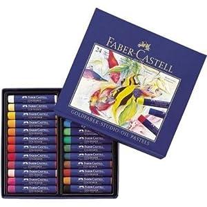Faber-Castell 127012 – Estuche de cartón con 12 pasteles de aceite, multicolor