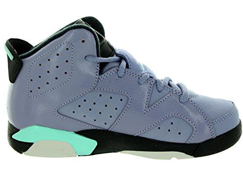 Nike - Jordan 6 Retro Gp, Scarpe sportive Bambina Multicolore (Morado / Negro (Iron Purple / Bleached Turq-Blck))