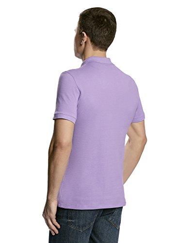 oodji Ultra Herren Pique-Poloshirt Violett (8000N)