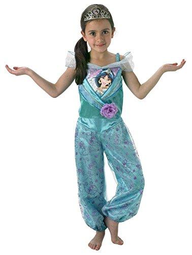 Disney Prinzessin Kinder Kostüm Jasmin mit Diadem Gr.L(7-8J.) (Jasmin Halloween Kostüme Für Kinder)