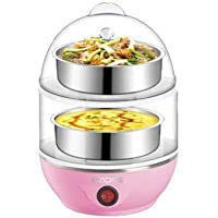 Swabs Double Layer Egg Boiler Electric/Electric Egg Cooker/Electric Egg Poacher (Color May Vary)