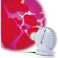 Sinnesraum Erlebnis Projektor in Weiß mit Lavalampen Effekt Violett/Rot preisvergleich bei billige-tabletten.eu