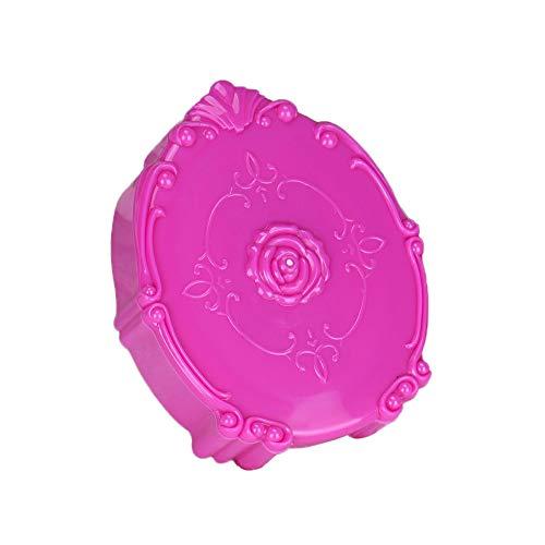 FiedFikt Mini-Reise-Kontaktlinsen-Etui aus Kunststoff, tragbar für Mädchen, Heimreise, Taschengröße, einfach zu tragen hot pink