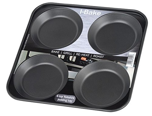 i-Bakwe Backblech für 4Yorkshire Puddings, schwarz