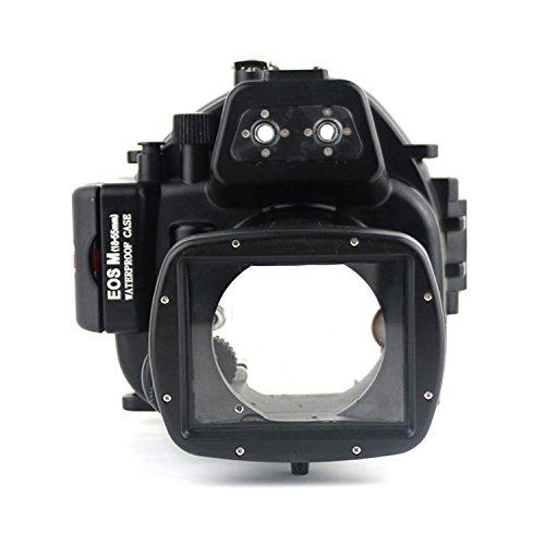 CameraPlus - Unterwasser digitalkamera - Unterwassergehäuse für Canon EOS M 18-55mm bis 40m Wasserdicht leicht bedienbar Canon WP-DC52