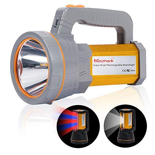 Superheller wiederaufladbarer LED-Scheinwerfer-Taschenlampe-hohe Lumen Handstarkes im Freien CREE-Scheinwerfer Große Batterie 10000Mah langlebige Taschenlampe, seitliche Flutlichtlampe Camping -