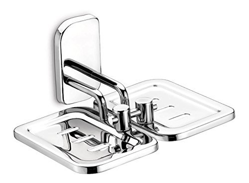 Dazzle DG315 Steel Double Soap Stand (Silver)