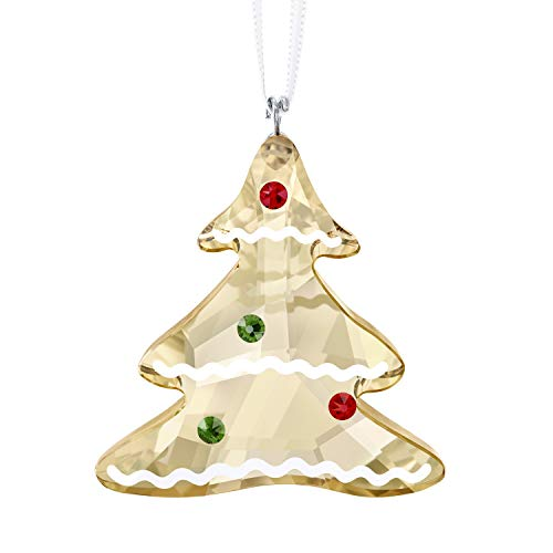Swarovski Gingerbread Tree Ornament, Kristall, Mehrfarbig, 4.5 x 4 x 1.4 cm