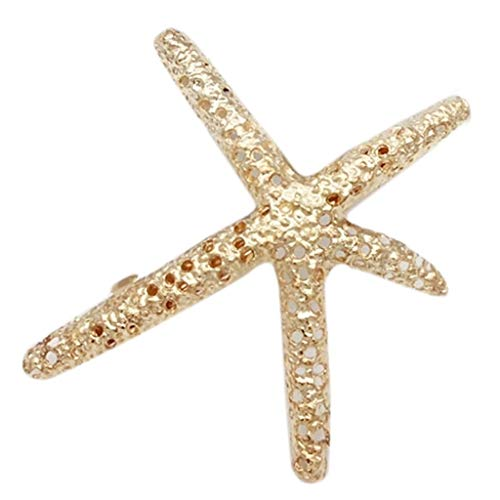 Fermaglio per capelli in stile vintage francese, a forma di stella marina, con puntini...