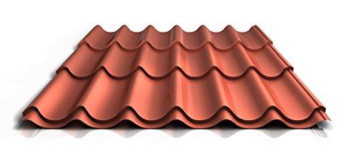 stahl-pfannenblech-ps47-1060rt-045-mm-25-um-polyester-farbeziegelrot-lange4300-mm
