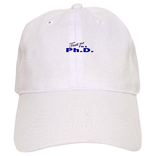 CafePress Trust Me I'm a Ph.D. Cap - Baseball Cap with Adjustable Closure, Unique Printed Baseball Hat