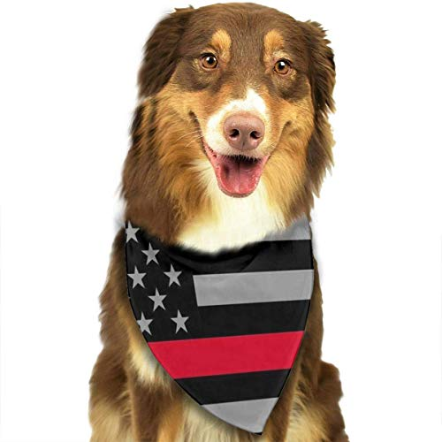 Kostüm Diva Dog - Pet Scarf Thin Red Line Firefighter Flag Dog Bandana Collars Dog Bandana Bibs Head Scarf Accessories